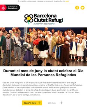 Butlletí Ciutat Refugi Juny 2019